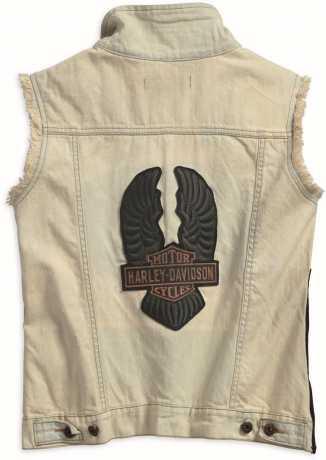 H-D Motorclothes Harley-Davidson Damen Jeans Weste Overcast Side Zipper  - 97469-18VW