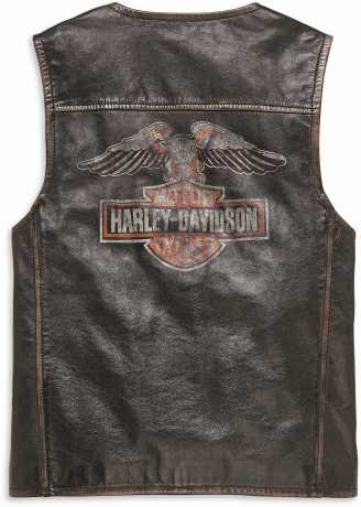 H-D Motorclothes Harley-Davidson Leather Vest Eagle Distressed L - 98078-19VM/000L