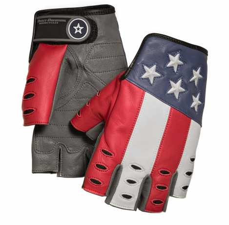 H-D Motorclothes Harley-Davidson Patriot Fingerless Gloves  - 98106-19VM