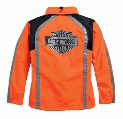 H-D Motorclothes Harley-Davidson women´s rain jacket hi-vis orange S - 98163-18EW/000S