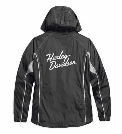 H-D Motorclothes Harley-Davidson Damen Regenkombi Reflective, schwarz M - 98204-17VW/000M