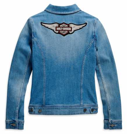 H-D Motorclothes Harley-Davidson Damen Jeansjacke Winged Logo blau  - 98410-20VW