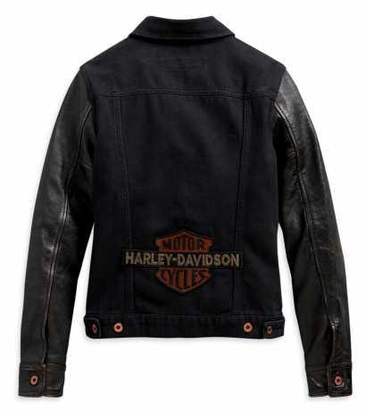 H-D Motorclothes Harley-Davidson Damen Jeansjacke mit Lederärmeln schwarz  - 98411-20VW