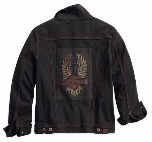 H-D Motorclothes Harley-Davidson Women's Winged Appliqué Denim Jacket, black  - 98593-18VW