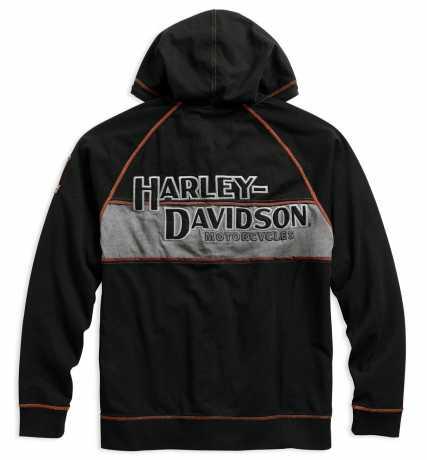 H-D Motorclothes Harley-Davison Zip Hoodie Iron Block  - 99000-17VM