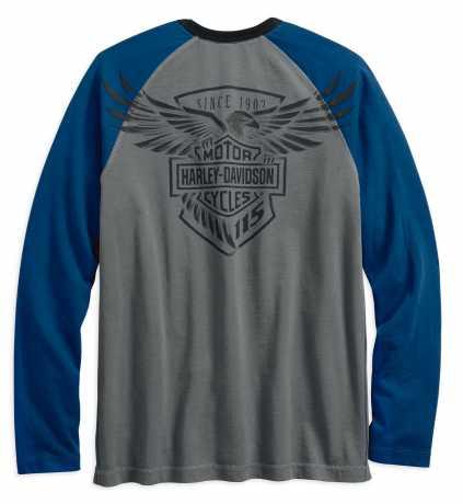 H-D Motorclothes Harley-Davidson Sweatshirt 115th Anniversary, grau / blau  - 99007-18VM