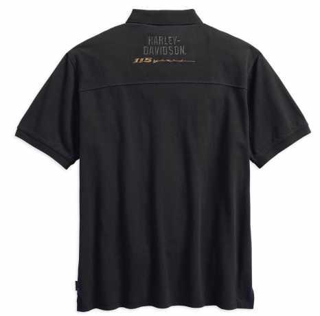 H-D Motorclothes Harley-Davidson Polo Shirt 115th Anniversary Coldblack  - 99015-18VM