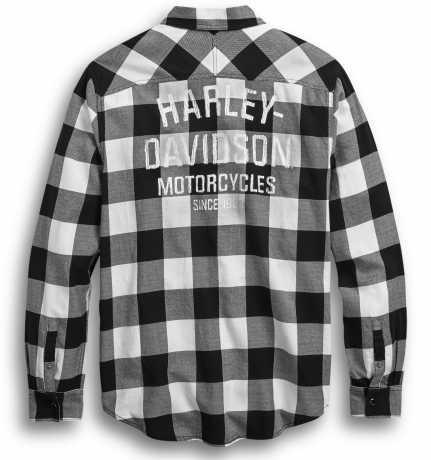 H-D Motorclothes Harley-Davidson Shirt Buffalo Plaid black/white  - 99017-20VM