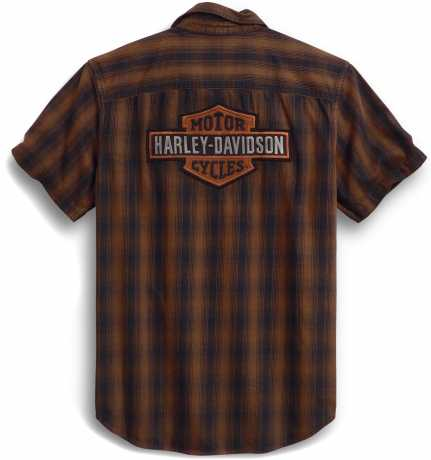 H-D Motorclothes Harley-Davidson Short Sleeve Shirt Plaid brown/black  - 99018-20VM