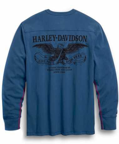 H-D Motorclothes Harley-Davidson Longsleeve Henley Freedom blau  - 99025-20VM