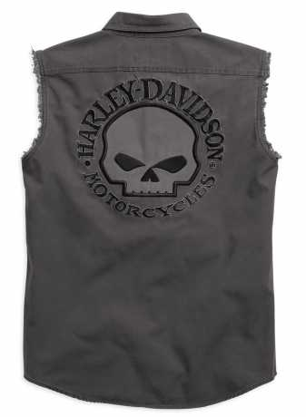 H-D Motorclothes Harley-Davidson Skull Blowout Shirt, grau L - 99029-17VM/000L