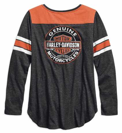 H-D Motorclothes Harley-Davidson Damen Henley Shirt Genuine Oil Can  - 99070-18VW