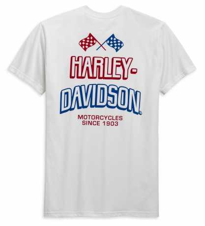 H-D Motorclothes Harley-Davidson T-Shirt Race Flag weiß  - 99089-20VH