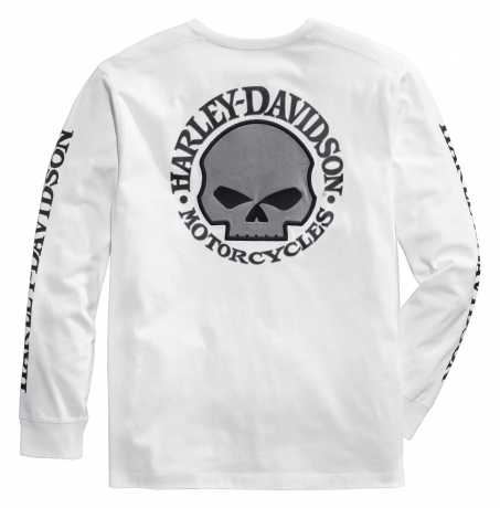 H-D Motorclothes Harley-Davidson Skull Long Sleeve Tee, white M - 99092-14VM/000M