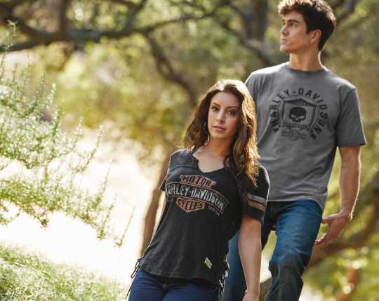 H-D Motorclothes Harley-Davidson Women's Genuine Side Laced Tee  - 99104-17VW