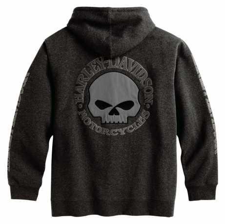 H-D Motorclothes Harley-Davidson Skull Zip Hoodie, grau M - 99107-18VM/000M