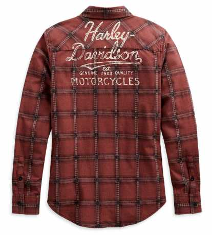 H-D Motorclothes Harley-Davidson Damen Hemd Karo Script Font  - 99117-20VW