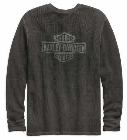 H-D Motorclothes Harley-Davidson Henley Shirt Washed Waffle Knit  - 99142-19VM
