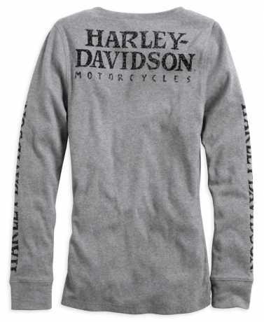 H-D Motorclothes Harley-Davidson Skull Snap Front Long Sleeve Henley M - 99143-14VW/000M