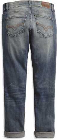 H-D Motorclothes Harley-Davidson Damen Washed Boyfriend Mid-Rise Jeans  - 99247-19VW