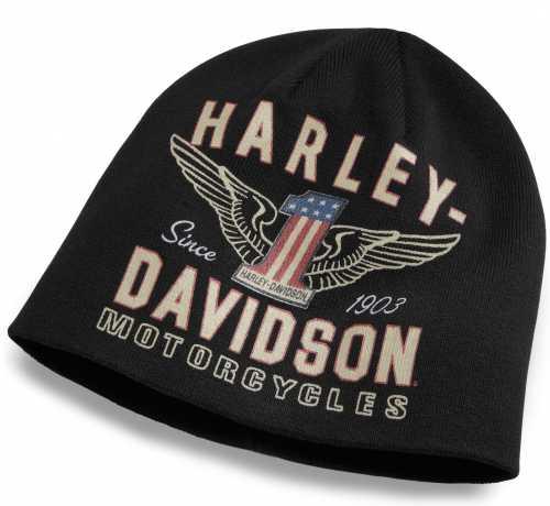 H-D Motorclothes Harley-Davidson Men's Winged #1 Knit Hat  - 99488-17VM