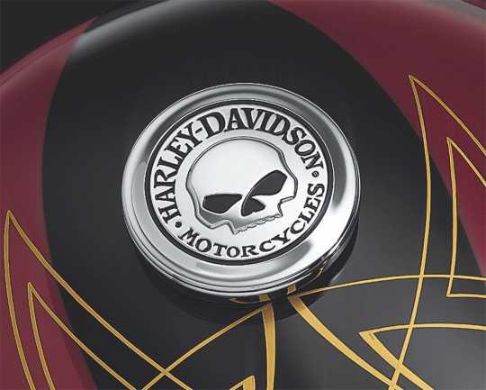 Harley-Davidson Fuel Cap Medallion Willie G Skull  - 99670-04