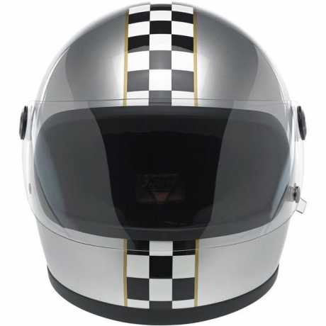 Biltwell Biltwell Gringo S Helmet Limited Edition Checker Metallic Silver DOT  - 60-7395V