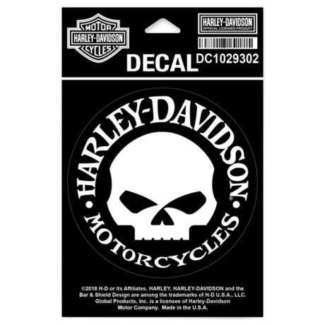 H-D Motorclothes Harley-Davidson Decal Hubcap Skull  - DC1029302