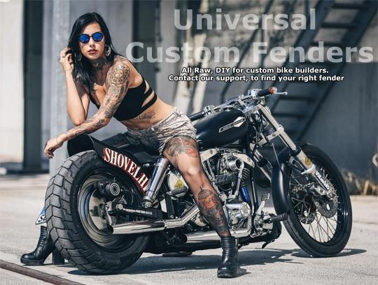 Front Fender Narrow chrome  - 24-0331