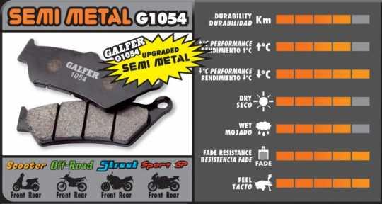 Galfer Galfer Brake Pads, Front, Rear Organic  - 89-9953