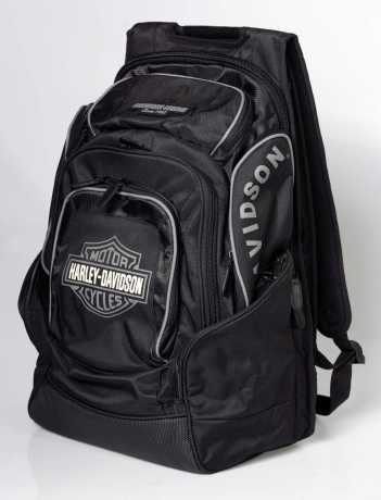 H-D Motorclothes Harley-Davidson B&S Delux Backpack, black/grey  - BP1900S-GRAYBLK