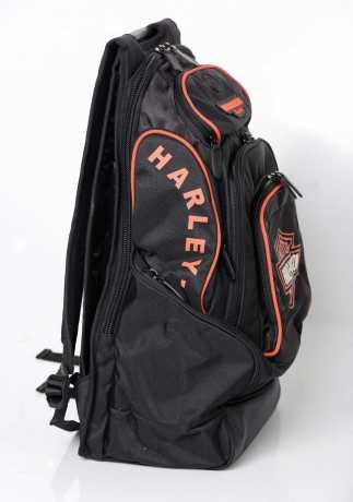 H-D Motorclothes Harley-Davidson B&S Delux Rucksack, schwarz/orange  - BP1900S-ORGBLK