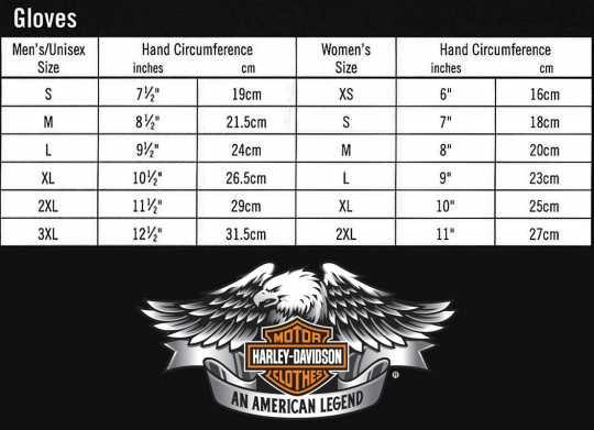 H-D Motorclothes Harley-Davidson Sarona Full-Finger Gloves 2XL - 98383-19EM/022L