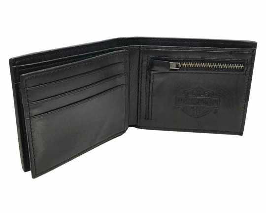 H-D Motorclothes Harley-Davidson Geldbörse Skull Concho Bi-Fold mit RFID-Schutz  - HDMWA11474