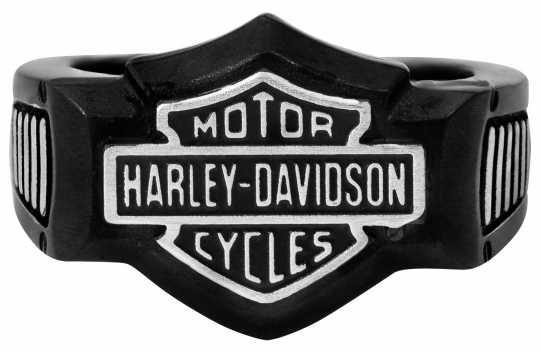 H-D Motorclothes Harley-Davidson Ring Black Edge Signet  - HSR0055