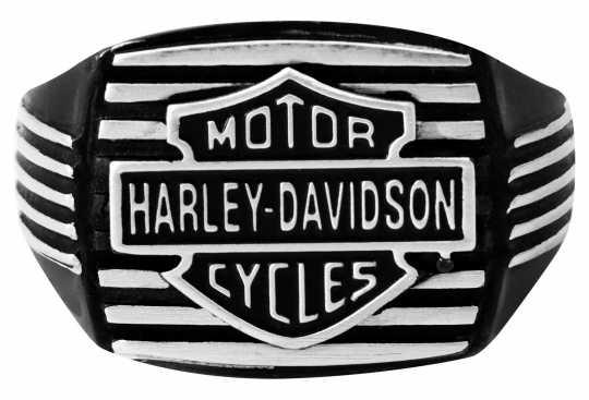 H-D Motorclothes Harley-Davidson Ring Black Edge Square  - HSR0057