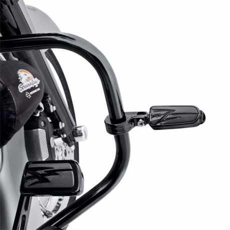 Harley-Davidson Billet Montagekit für Motorschutzbügel-Fußrasten, schwarz  - 54234-10A