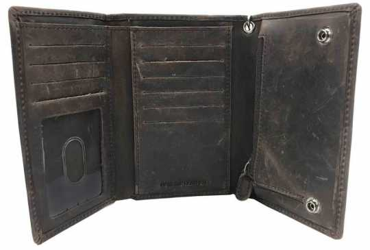 H-D Motorclothes Harley-Davidson Wallet Crazy Horse Trifold Medium  - MCH8416