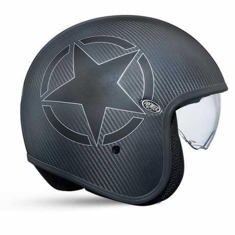 Premier Helmets Premier Vintage Jethelm Carbon Star  - PR9VIN28