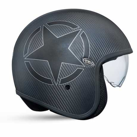 Premier Helmets Premier Vintage Jethelm Carbon Star M - PR9VIN28-M