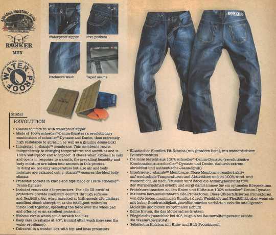 Rokker Rokker Motorradjeans Revolution 36 | 34 - 1030L34W36