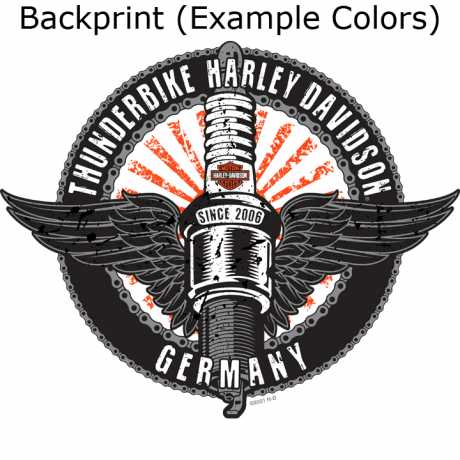 H-D Motorclothes Harley-Davidson T-Shirt Flayed Skull schwarz  - R0040083V