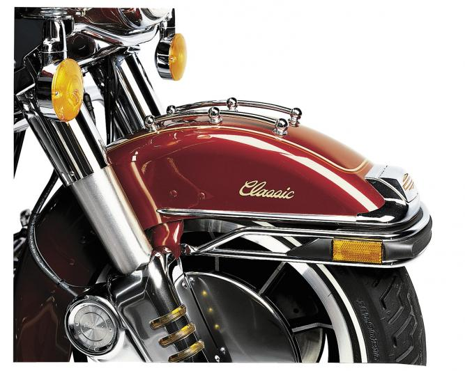 Front fender rail and stanchion kit at