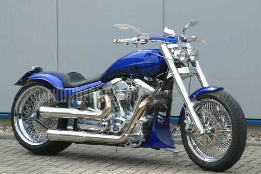 Thunderbike Solo Seat vinyl black  - 11-43-140