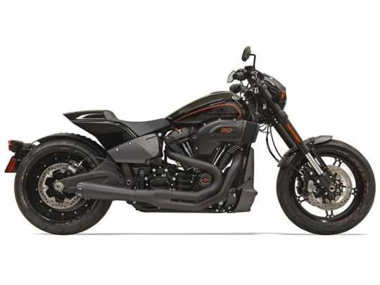 Bassani Bassani  Exhaust System Road Rage III 2-Into-1 black  - 18002239
