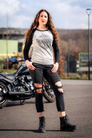 Thunderbike Clothing Thunderbike Damen Longsleeve Original grau/schwarz M - 19-10-1220/000M