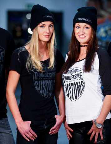 Thunderbike Clothing Thunderbike Damen T-Shirt New Custom, schwarz M - 19-11-1011/000M