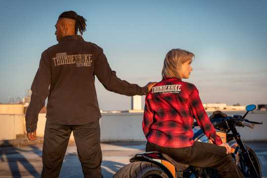 Thunderbike Clothing Thunderbike women´s plaid shirt red  - 19-12-1197V