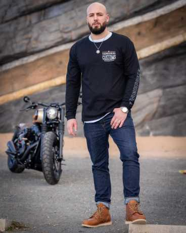 Thunderbike Clothing Thunderbike Longsleeve Customs black  - 19-30-1211V