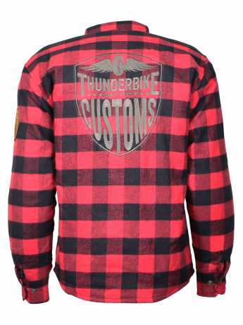 Thunderbike Clothing Thunderbike Plaid Biker Shirt, red / black  - 19-31-0027V